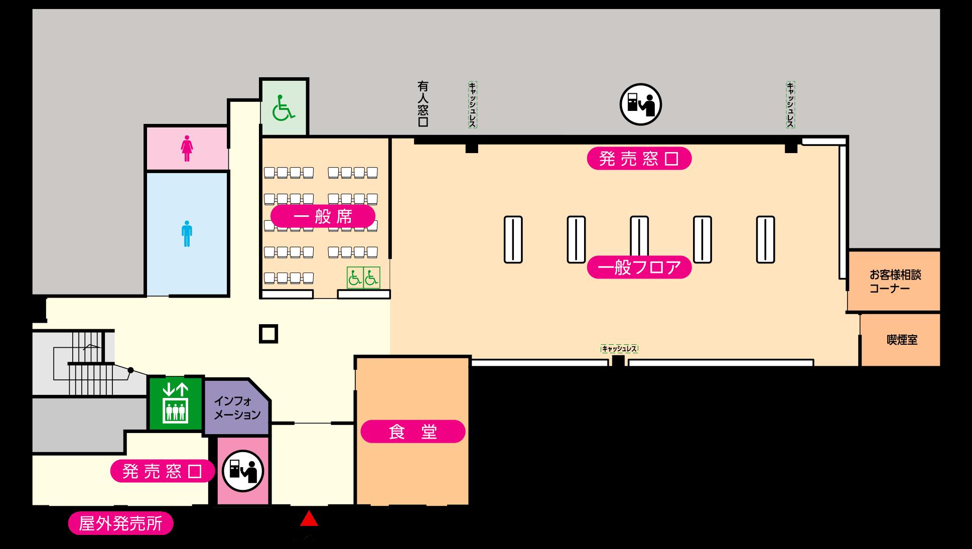 1階の店内マップ